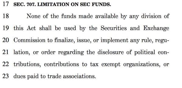 SEC 707 Provision