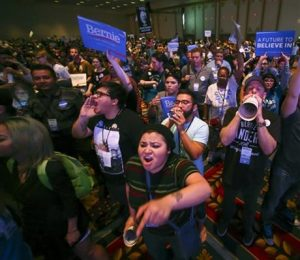 Sanders' supporters demand their rights